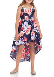 ac6a15cdfa8e ... High Low Dress · Rare Editions Girls 7-16 Navy Fuchsia Floral Mikado  Dress