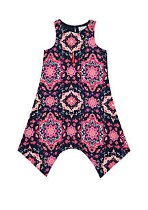 Rare Editions Girls 7-16 Navy Pink Medallion Yummy Dress