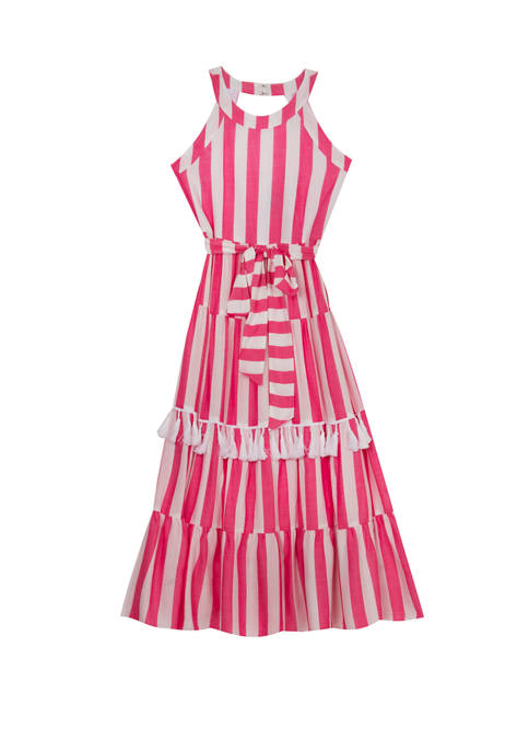 Rare Editions Girls 7-16 Sleeveless Striped Woven Maxi