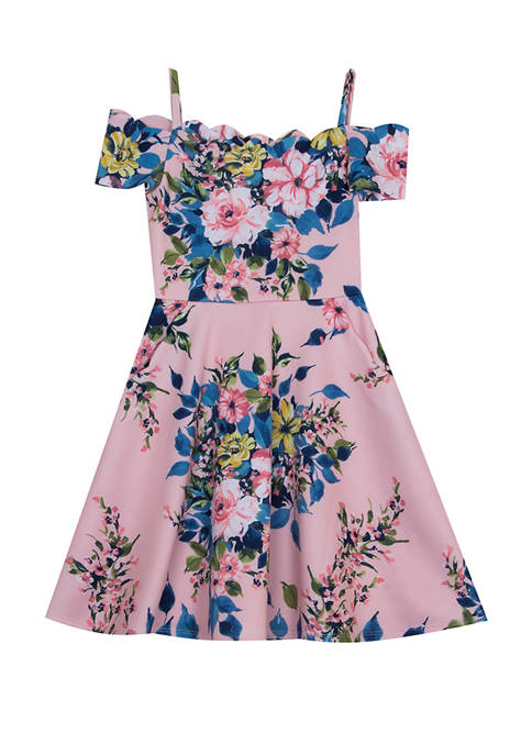 Rare Editions Girls 7-16 Floral Off the Shoulder