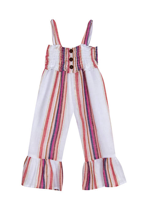 Counting Daisies Girls 7-16 Striped Linen with Foil