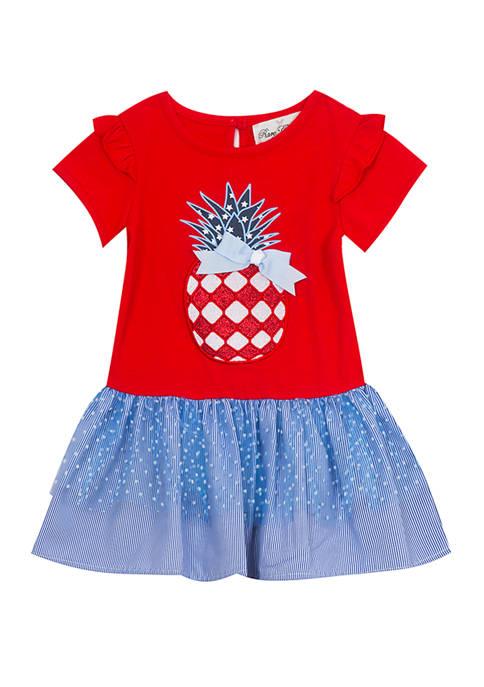 Girls 7-16 Americana Pinapple Tutu Dress