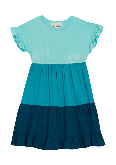 Counting Daisies Girls 7-16 Ruffle Sleeve Color Block