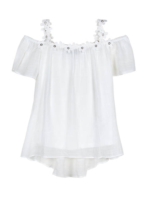 Amy Byer Girls 7-16 Daisy Neck Off Shoulder