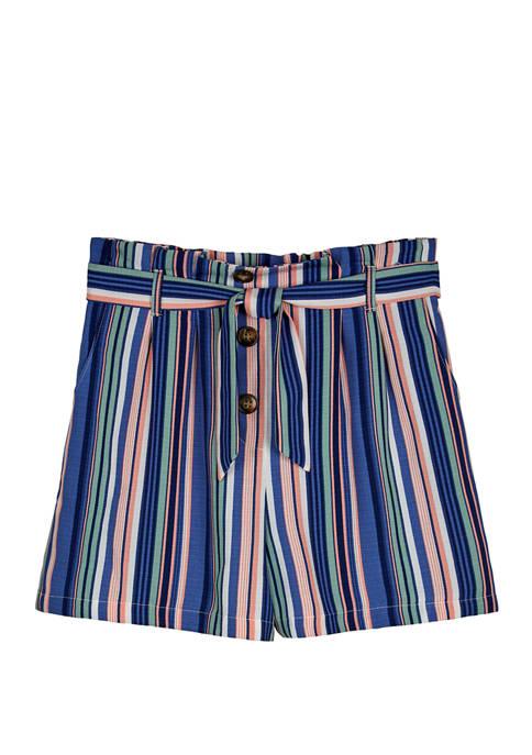 Amy Byer Girls 7-16 Multi Stripe Soft Shorts