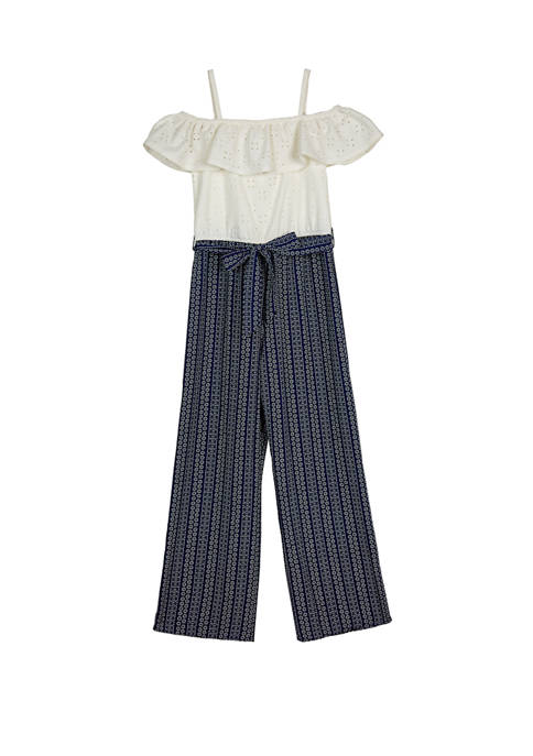 Amy Byer Girls 7-16 White Eyelet Off the