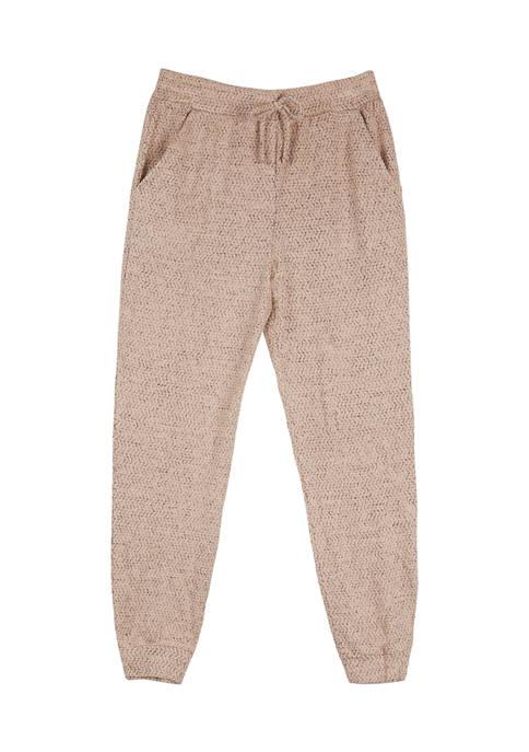 Girls 7-16 Fuzzy Jogger Pants