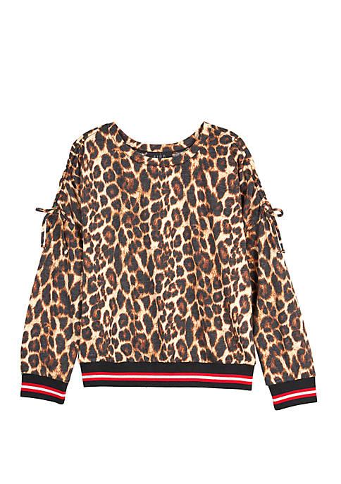 Amy Byer Girls 7-16 Long Sleeve Animal Pattern