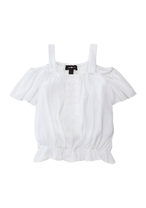 Amy Byer Girls 7-16 Off the Shoulder Top