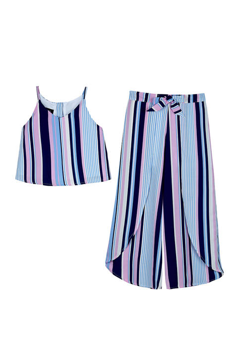 Amy Byer Girls 7-16 Stripe Top and Pants