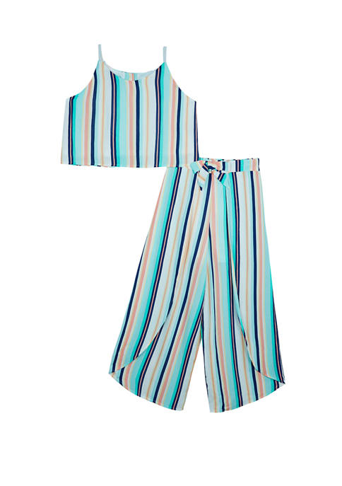 Amy Byer Girls 7-16 2 Piece Multi Stripe