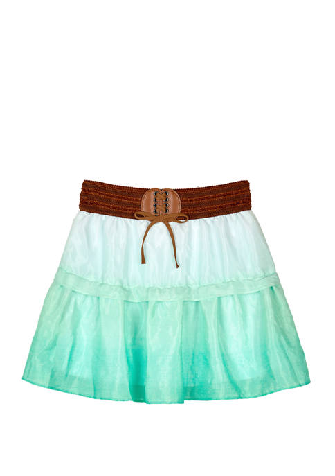Amy Byer Girls 7-16 Mint Ombre Belted Short