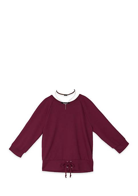 Amy Byer Girls 7-16 Short Sleeve Banded Bottom