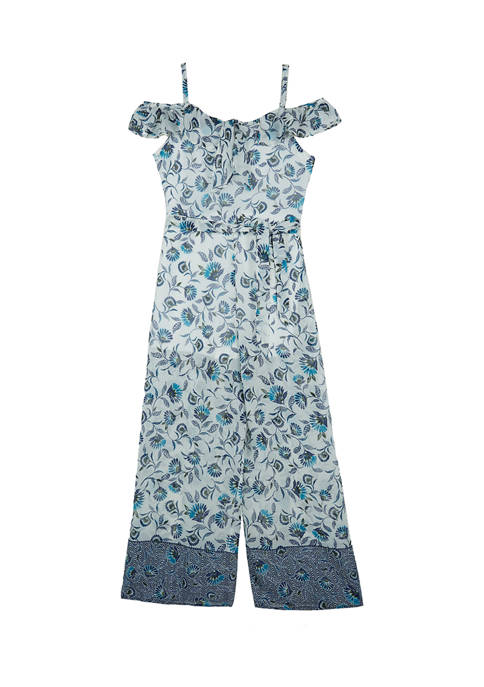Amy Byer Girls 7-16 Printed Jumpsuit