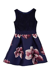 Girls 7-16 Glitter Top Arcadia Floral Dress