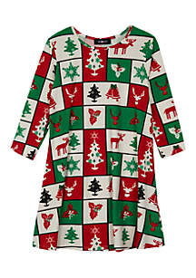 Girls 7-16 Holiday Dress