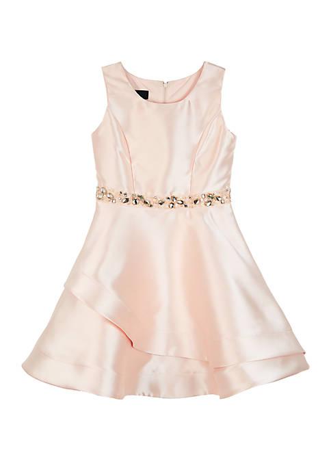 Amy Byer Girls 7-16 Solid Tulip Hem Skirt