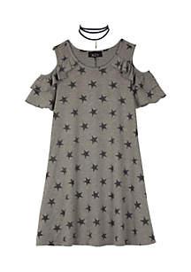 Girls 7-16 Cold Shoulder Knit Dress
