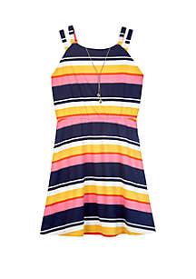 Amy Byer Girls 7-16 Multi Stripe Knit Dress