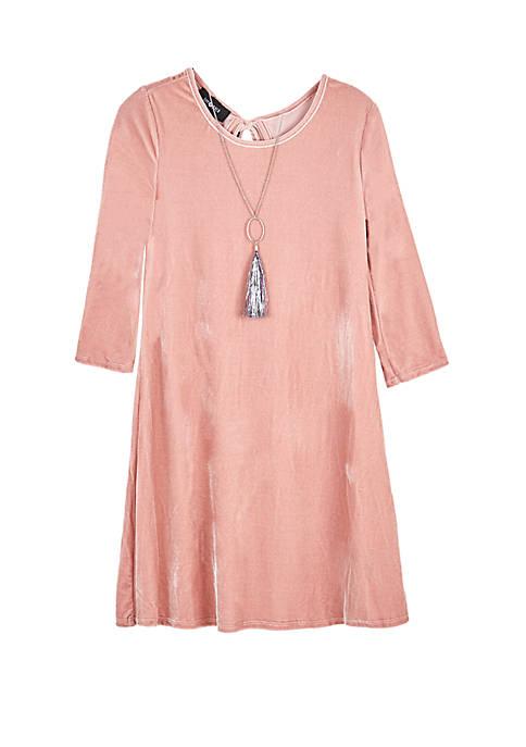Amy Byer Girls 7-16 Long Sleeve Shift Dress