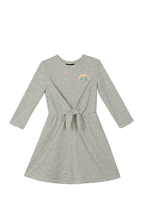 Amy Byer Girls 7-16 Long Sleeve Knot Front