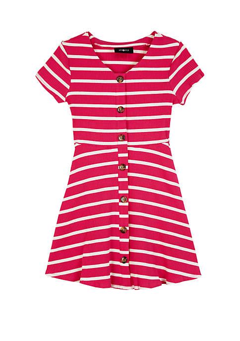 Amy Byer Girls 7-16 Short Sleeve Rib Knit