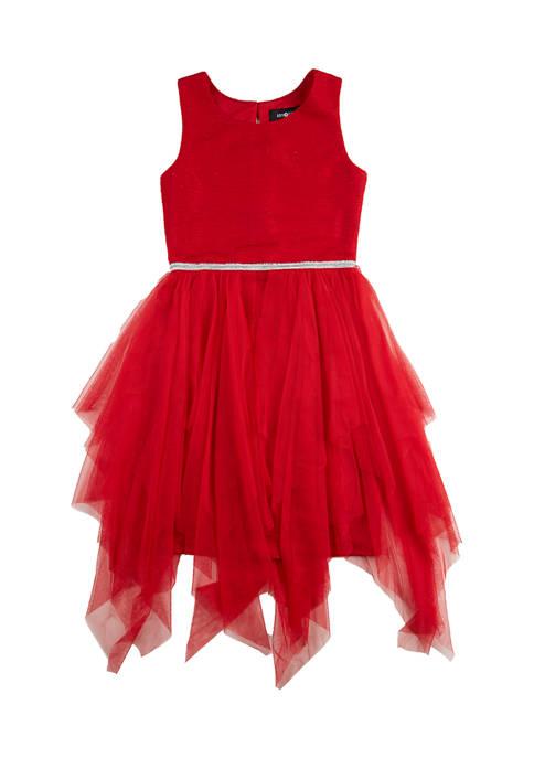 Amy Byer Girls 7-16 Fairy Hem Overlay Dress