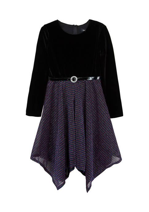 Amy Byer Girls 7-16 Long Sleeve Belted Velvet