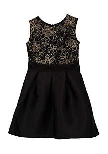 Girls 7-16 Gold to Black Illusion Arcadia Dress