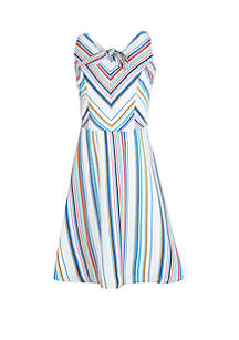 53fdad09d ... Floral Dress · Amy Byer Girls 7-16 Multi Stripe Tie Front Skater Dress