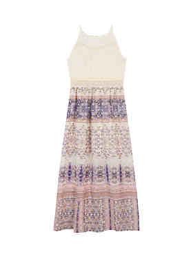 Amy Byer Girls 7-16 Ivory Lace Print Maxi Dress ... 700ef0ef8685