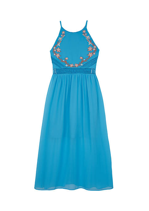 Amy Byer Embroidered Maxi Dress Girls 7-16