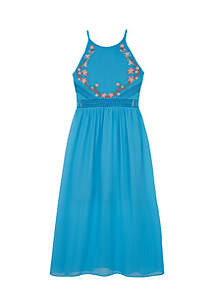 Embroidered Maxi Dress Girls 7-16