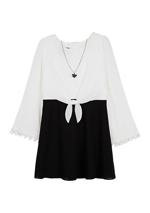 Amy Byer Girls 7-16 Long Sleeve Popover Dress