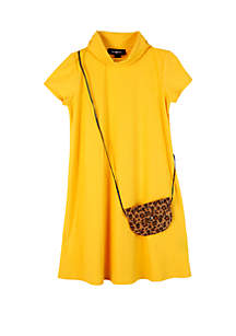 Amy Byer Girls 7-16 Solid Rib Mock Neck Knit Dress