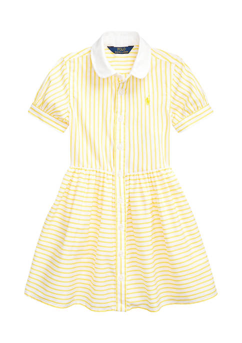 Ralph Lauren Childrenswear Girls 4-6x Striped Cotton Shirtdress