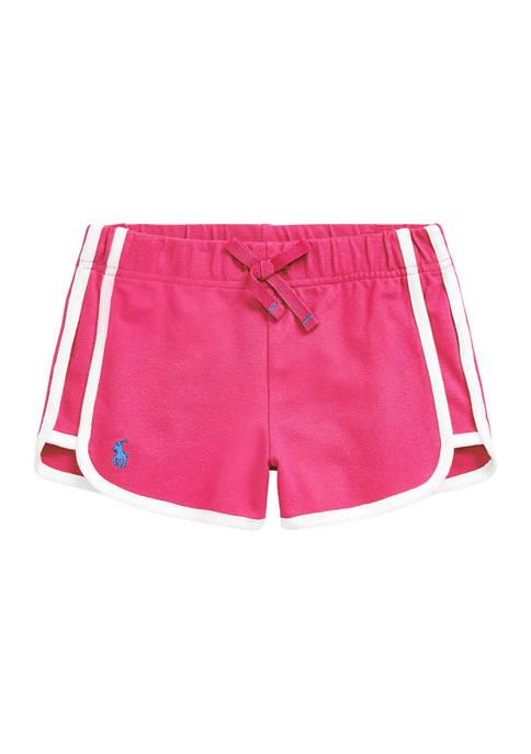 Girls 4-6x Stretch Mesh Pull On Shorts