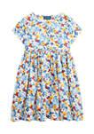 Girls 4-6x Floral Empire Waist Dress