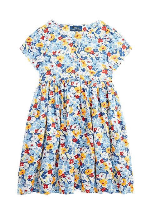 Ralph Lauren Childrenswear Girls 4-6x Floral Empire Waist