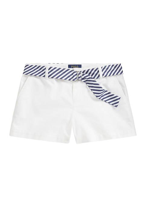 Ralph Lauren Childrenswear Girls 7-16 Belted Stretch Chino