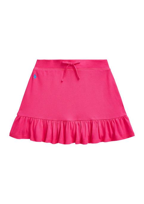 Ralph Lauren Childrenswear Girls 7-16 Ruffled Stretch Mesh