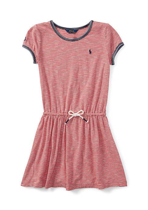 Ralph Lauren Childrenswear Girls 7-16 Striped Jersey T-Shirt