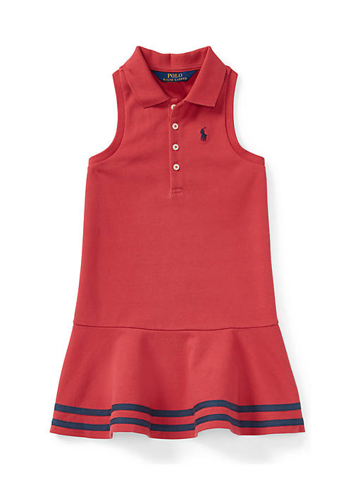 Ralph Lauren Childrenswear Girls 4-6x Striped Mesh Polo