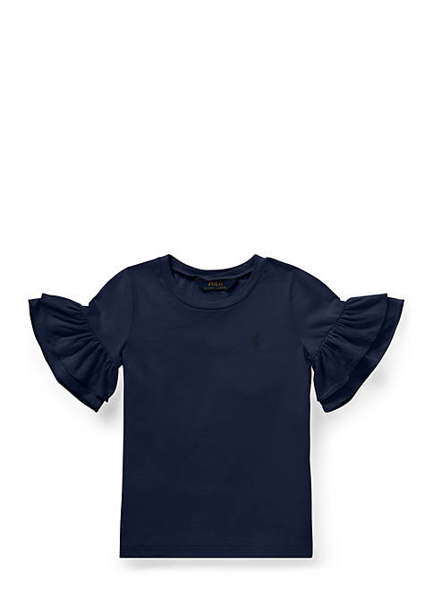 Ralph Lauren Childrenswear Girls 4-6x Ruffled-Sleeve Crewneck