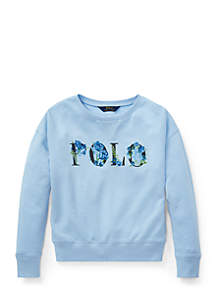 Girls 7-16 Polo French Terry Sweatshirt
