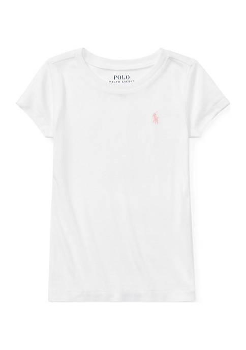 Ralph Lauren Childrenswear Girls 4-6x Cotton-Blend Crew Neck