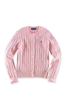 Cable Cardigan Girls 4-6X