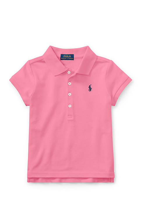 Ralph Lauren Childrenswear Cotton Mesh Short-Sleeve Polo Girls