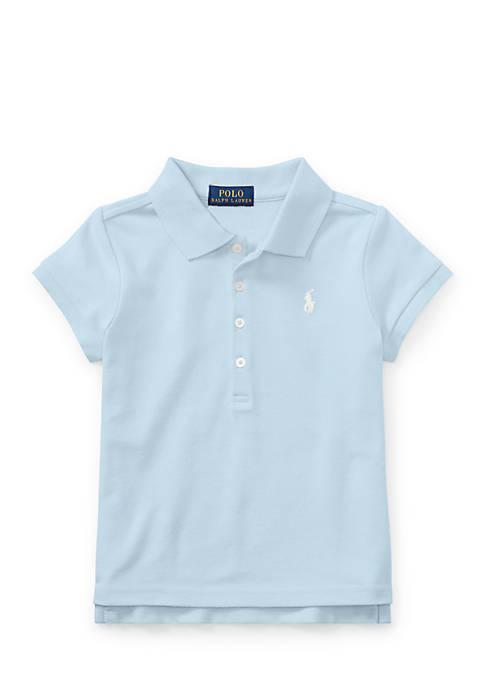 Cotton Mesh Short-Sleeve Polo Girls 4-6x