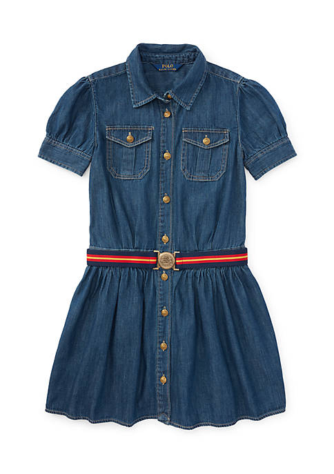 Ralph Lauren Childrenswear Denim Shirtdress Girls 4-6x